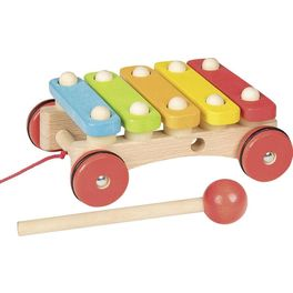 Xylofon nakolečkách – tahací hračka naprovázku
