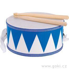 Bubínek modrý sdřevěnými paličkami, 20cm