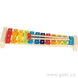 Xylofon pastelový, 12tónů, 37,5 cm