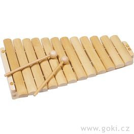 Xylofon dřevěný, 12tónů, 35cm