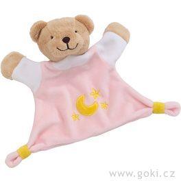 Mazlivá hračka usínáček – Růžový medvídek