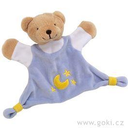 Mazlivá hračka usínáček – Modrý medvídek