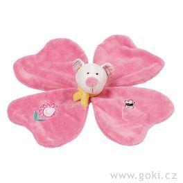 Mazlivá hračka medvídek usínáček – růžový
