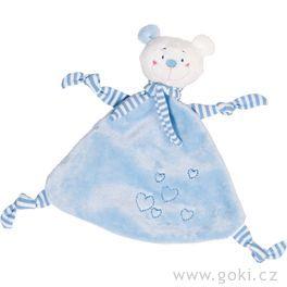 Mazlivá hračka usínáček – Modrý medvídek sesrdíčkem