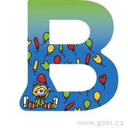 Ozdobné písmeno zedřeva B