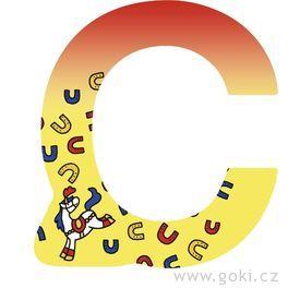 Ozdobné písmeno zedřeva C