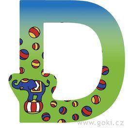 Ozdobné písmeno zedřeva D