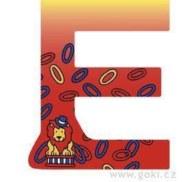 Ozdobné písmeno zedřeva E