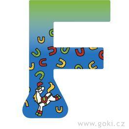 Ozdobné písmeno zedřeva F