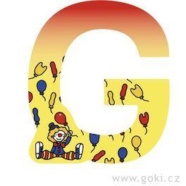 Ozdobné písmeno zedřeva G