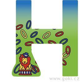 Ozdobné písmeno zedřeva H