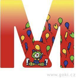 Ozdobné písmeno zedřeva M