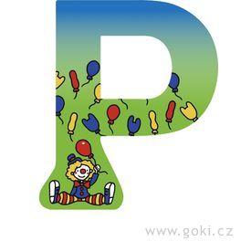 Ozdobné písmeno zedřeva P