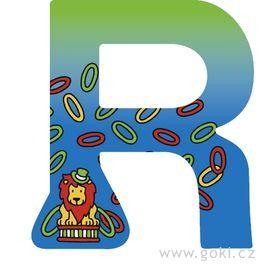 Ozdobné písmeno zedřeva R