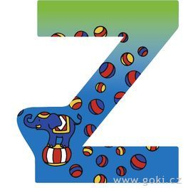 Ozdobné písmeno zedřeva Z