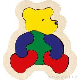 Dřevěné puzzle vrámečku – Medvěd