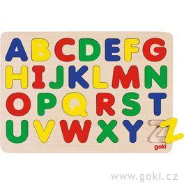 Dřevěné puzzle nadesce – Abeceda