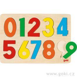 Dřevěné puzzle nadesce – Čísla
