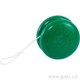 Dřevěné zelené jojo, 5cm