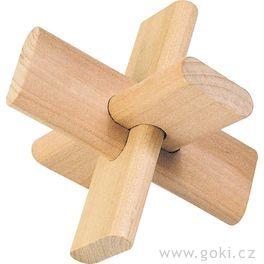 Dřevěný hlavolam – Kříž