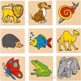 Dřevěné pexeso – Zvířátka, 32díly