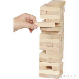 Zábavná hra– Dřevěná věž Jenga natur ,51dílů