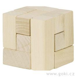Dřevěný hlavolam – 3Dkostka