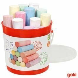 Chodníkové barevné kulaté křídy vplastové kbelíku, 15ks