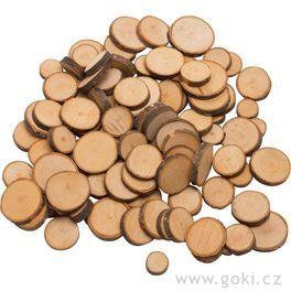 Dřevěná kolečka kezdobení, cca100kusů