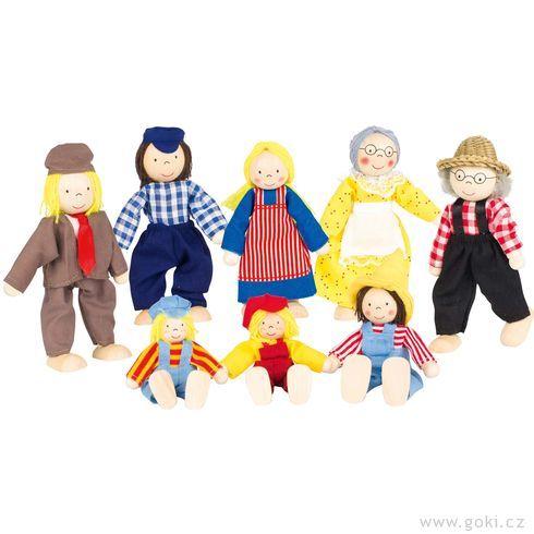 Panenky dodomečku – farmářova rodina, 8ks - Goki
