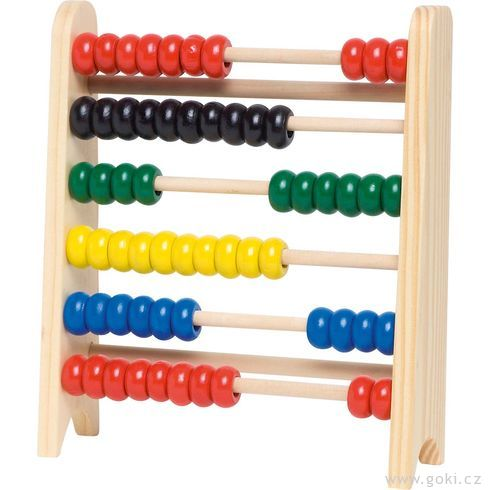 Počítadlo s60dřevěnými perličkami - Goki